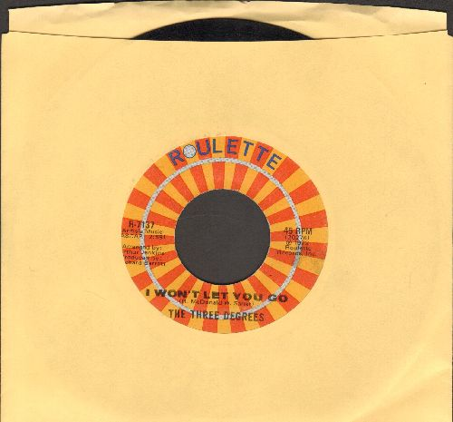 Three Degrees - I Won't Let You Go/Through Misty Eyes - EX8/ - 45 rpm Records