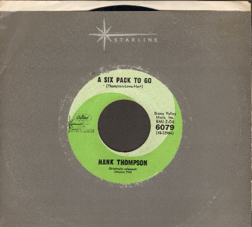 Thompson, Hank - A Six Pack To Go/The Wild Side Of Life (double-hit re-issue with Capitol company sleeve) - NM9/ - 45 rpm Records