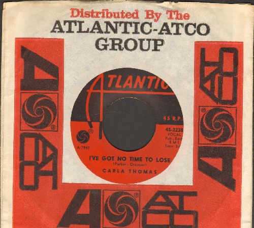 Thomas, Carla - I've Got No Time To Lose/A Boy Named Tom (with Atlantic company sleeve) - VG7/ - 45 rpm Records