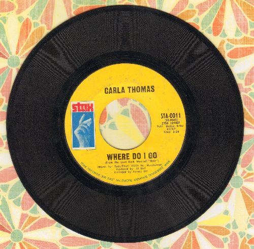 Thomas, Carla - Where Do I Go/I've Fallen In Love - VG7/ - 45 rpm Records