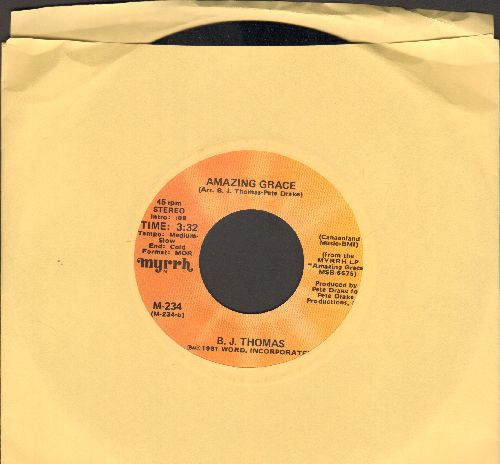Thomas, B. J. - Amazing Grace/The Unclouded Day - M10/ - 45 rpm Records