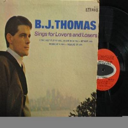 Thomas, B. J. - Sings For Lovers And Losers: Half As Much, Treasure Of Love, Wisdom Of A Fool, Miller's cave (vinyl STEREO LP record) - M10/EX8 - LP Records