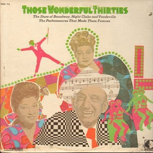 Calloway, Cab, Ethel Merman, Sophie Tucker, Walter Houston, others - Those Wonderful Thirties: Minnie The Moocher, You're The Top, September Song, My Blue Heaven (2 vinyl LP record set, 1960s issue of vintage 1930s recordings) - NM9/EX8 - LP Records