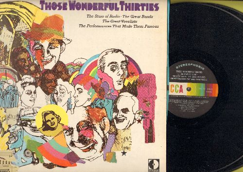 Jolson, Al, Bing Crosby, Kate Smith, others - Those Wonderful Thirties: Tiger Rag, Bei Mir Bist Du Schoen, Sugar Blues, When I Take My Sugar To Tea (2 vinyl STEREO LP records, gate-fold cover)(bb) - NM9/EX8 - LP Records