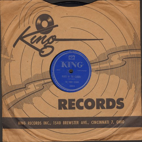 Three Clouds - Blues In The Clouds/Out Of A Dream (by The Three Ravens) (10 inch 78rpm record with King company sleeve) - VG7/ - LP Records