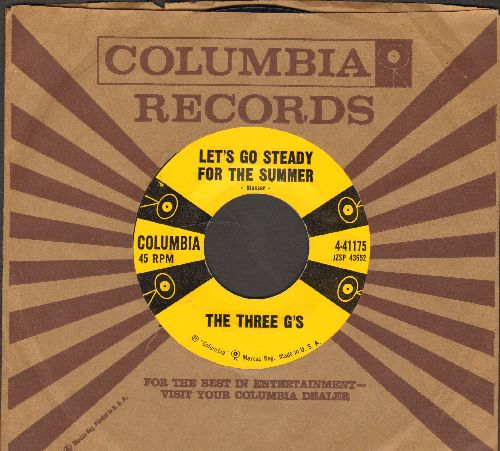 Three G's - Let's Go Steady For The Summer/Wild Man (with vintage Columbia company sleeve) - NM9/ - 45 rpm Records
