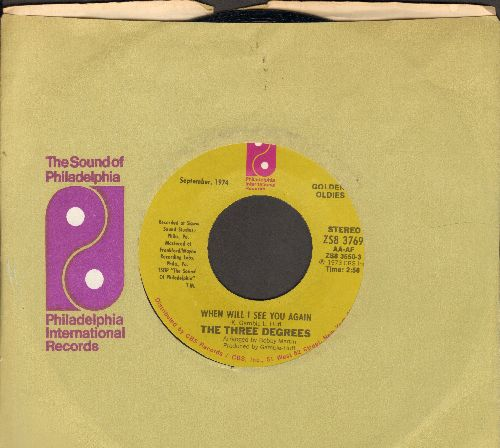 Three Degrees - Dirty Ol' Man/When Will I See You Again? (early double-hit re-issue) - NM9/ - 45 rpm Records