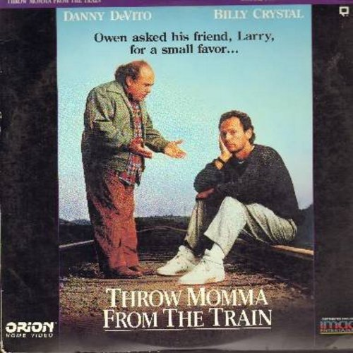 Throw Momma From The Train - Throw Momma From The Train - The 1987 Black Comedy starring Danny DeVito, Billy Crystal and Oscar NomineeAnne Ramsey - THIS IS A LASER DISC, NOT ANY OTHER KIND OF MEDIA! - NM9/EX8 - Laser Discs