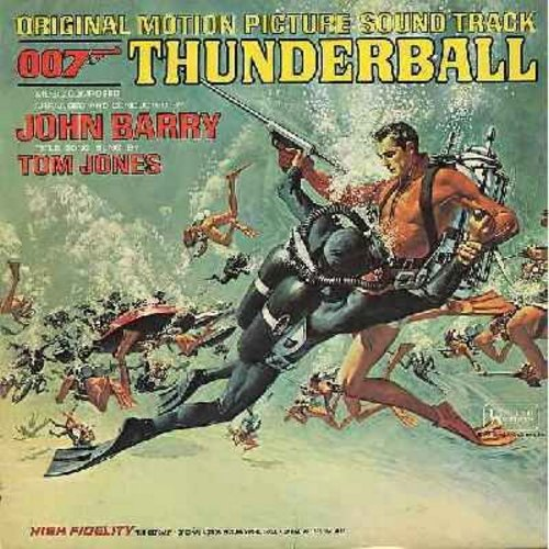 Barry, John, Tom Jones - Thunderball - Original Motion Picture Sound Track featuring Score by John Barry with Title Song by Tom Jones (vinyl MONO LP record) - VG7/VG6 - LP Records