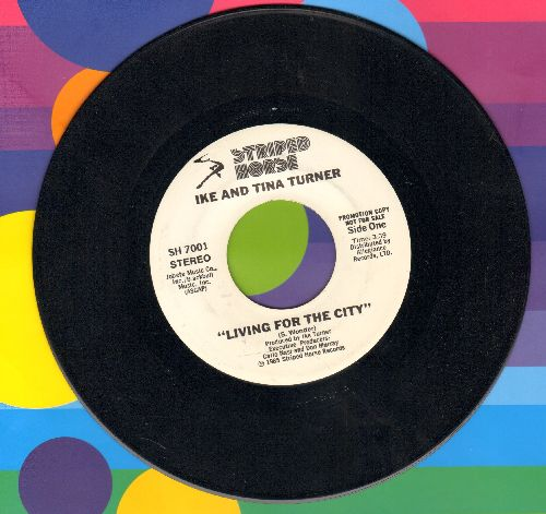 Turner, Ike & Tina - Living For The City (double-A-sided DJ advance pressing) - EX8/ - 45 rpm Records