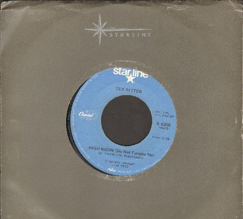Ritter, Tex - High Noon (Do Not Forsake Me)/Blood On The Saddle (re-issue) - NM9/ - 45 rpm Records