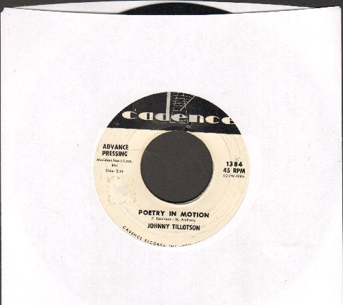 Tillotson, Johnny - Poetry In Motion/Princess, Princess (DJ advance pressing) - EX8/ - 45 rpm Records