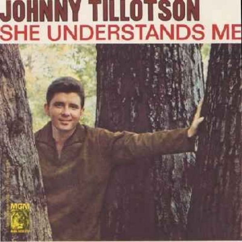 Tillotson, Johnny - She Understands Me/Tomorrow (with picture sleeve) - NM9/EX8 - 45 rpm Records
