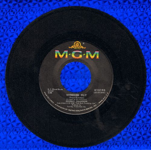 Tillotson, Johnny - Worried Guy/Please Don't Go Away - VG7/ - 45 rpm Records