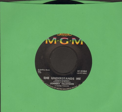 Tillotson, Johnny - She Understands Me/Tomorrow  - EX8/ - 45 rpm Records