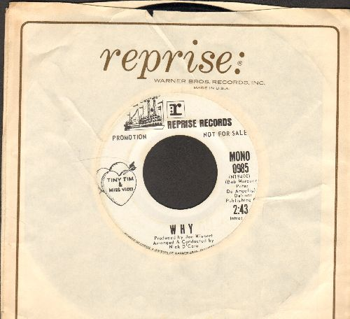 Tiny Tim & Miss Vicki - Why (double-A-sided DJ advance pressing with Reprise company sleeve) - EX8/ - 45 rpm Records