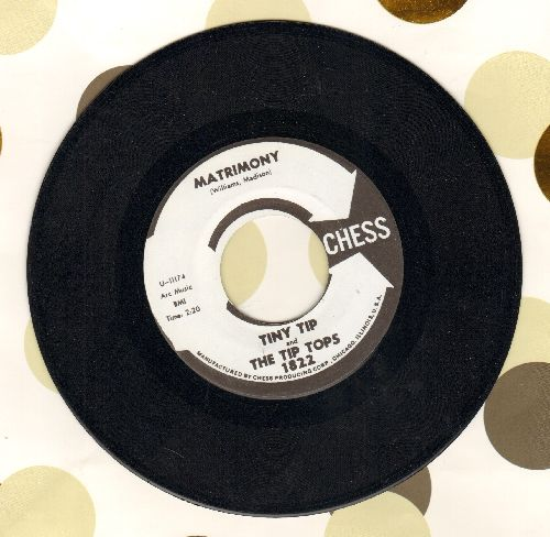 Tiny Tip & The Tip Tops - Matrimony/Say It (MINT condition authentic-looking re-issue of vintage Doo-Wop recordings) - M10/ - 45 rpm Records