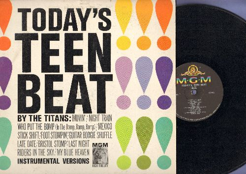 Titans - Today's Teen Beat: Who Put The Bomp (In The Bomp, Bomp, Bomp), Stick Shift, My Blue Heaven, Riders In The Sky (vinyl MONO LP record) - EX8/VG7 - LP Records