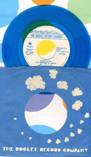 Tzuke, Judy - Stay With Me Till Dawn (BLUE VINYL double-A-sided DJ advance pressing with Rocket company sleeve) - NM9/ - 45 rpm Records
