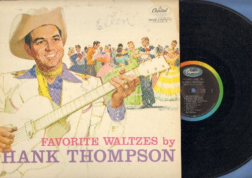 Thompson, Hank - Favorite Waltzes: Shenandoah Waltz, Skater's Waltz, Let Me Call You Sweetheart, Anniversary Waltz (vinyl MONO LP record) - EX8/VG7 - LP Records