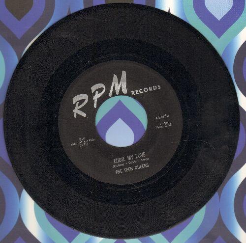 Teen Queens - Eddie My Love/Just Goofed (black label first pressing) - EX8/ - 45 rpm Records