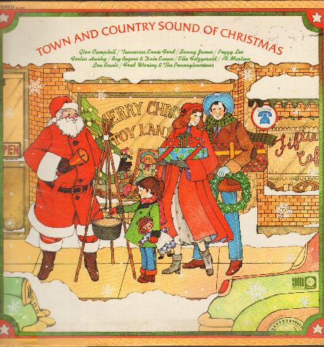 Campbell, Glen, Ferlin Husky, Peggy Lee, others - Town & Country Sound Of Christmas: Winter Wonderland, Jingle Bells, My Christmas Dream (vinyl STEREO LP record, SEALED, never opened!) - SEALED/SEALED - LP Records