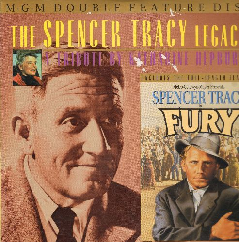 Tracy, Spencer - Spencer Tracy Legacy Double Feature Laser Disc Tribute and Fury - NM9/EX8 - Laser Discs