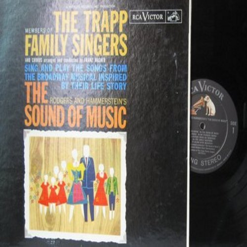 Trapp Family Singers - The Trapp Family Singers sing and play the songs from the Broadway Musical Inspired by their Life Story - The Sound Of Music (vinyl STEREO LP record) - NM9/EX8 - LP Records
