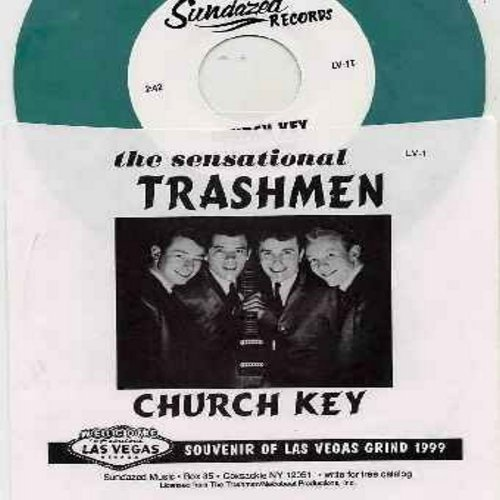 Trashmen - Church Key/Wailin' (by The Wailers on flip-side) (BUBBLE GUM color vinyl re-issue with picture sleeve) - M10/NM9 - 45 rpm Records