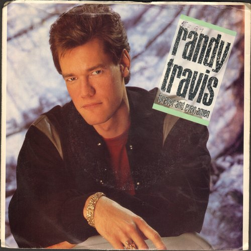 Travis, Randy - Forever And Ever Amen/Promises (with picture sleeve) - NM9/VG7 - 45 rpm Records