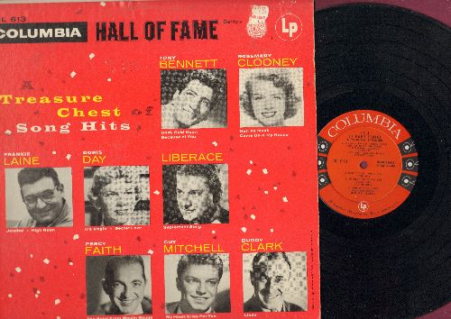 Bennet, Tony, Doris Day, Frankie Laine, Rosemary Clooney, others - Hall Of Fame Treasure Chest: Secret Love, Linda, High Noon, Come On-A My House, September Song (vinyl MONO LP record) - EX8/VG7 - LP Records
