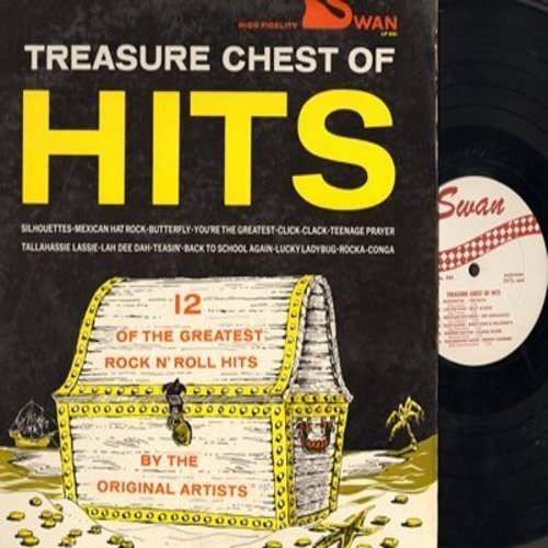 Rays, Billy & Lilly, Freddy Cannon, Charlie Gracie, others - Treasure Chest Of Hits: Silhouettes, Lah Dee Dah, Teenage Prayer, Butterfly, Tallahassie Lassie (vinyl MONO LP record) - NM9/EX8 - LP Records