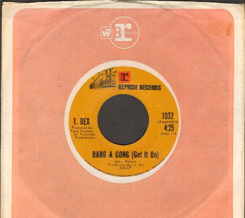 T. Rex - Bang A Gong (Get It On)/Raw Ramp (with Reprise company sleeve) - EX8/ - 45 rpm Records