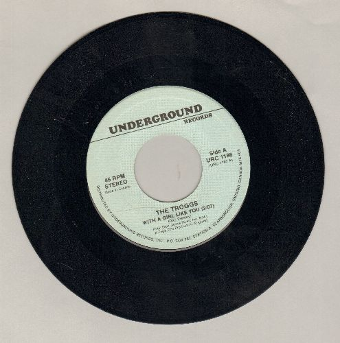 Troggs - With A Girl Like You/I Can't Control Myself (double-hit re-issue) - NM9/ - 45 rpm Records