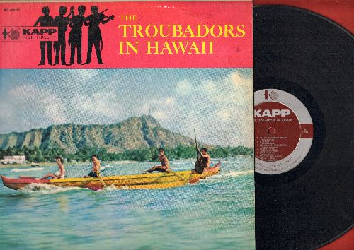 Troubadors - The Troubadors In Hawaii:Blue Hawaii, Aloha Oe, Lovely Hula Hands, Song Of The Islands, Beyond The Reef (vinyl MONO LP record) - VG7/EX8 - LP Records