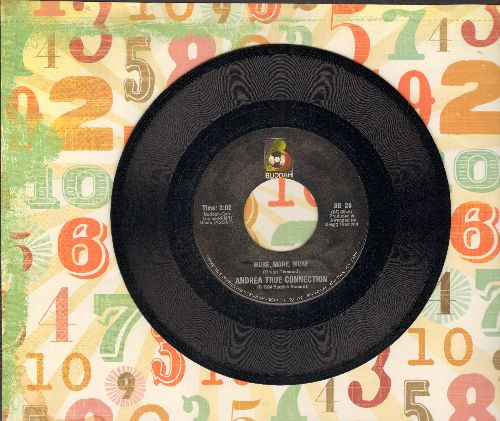 True, Andrea Connection - More, More, More/What's Your Name, What's Your Number (double-hit re-issue) - NM9/ - 45 rpm Records