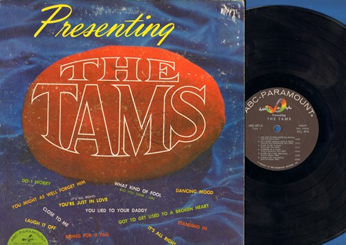 Tams - Presenting The Tams: What Kind Of Fool (Do You Think I Am), Laugh It Off, Do I Worry, You Lied To Your Daddy (vinyl MONO LP record) - EX8/VG7 - LP Records