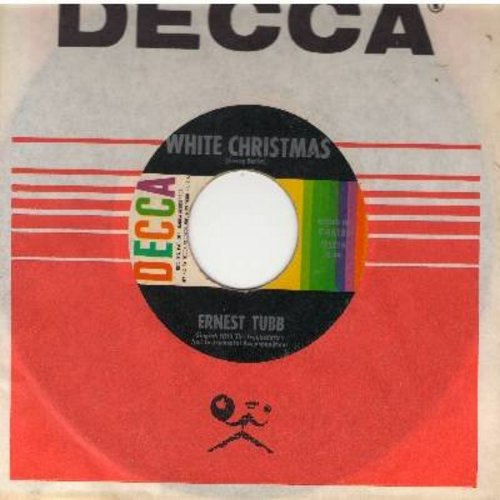 Tubb, Ernest - White Christmas/Blue Christmas (with Decca company sleeve) - EX8/ - 45 rpm Records
