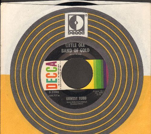 Tubb, Ernest - Little Ole Band Of Gold/Girl From Abilene (with Decca company sleeve) - NM9/ - 45 rpm Records