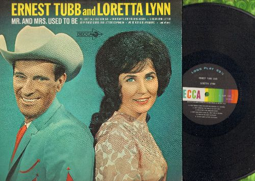 Tubb, Ernest & Loretta Lynn - Mr. And Mrs. Used To Be: I'll Just Call You Darling, A Dear John Letter, Our Hearts Are Holding Hands (vinyl MONO LP record) - NM9/EX8 - LP Records