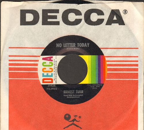 Tubb, Ernest - No Letter Today/A House Of Sorrow (with Decca company sleeve) - EX8/ - 45 rpm Records