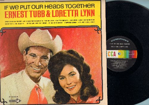 Tubb, Ernest & Loretta Lynn - If We Put Our Heads Together: That Odd Couple, Won't You Come Home, Chased You Till You Caught Me (vinyl STEREO LP record) - NM9/EX8 - LP Records