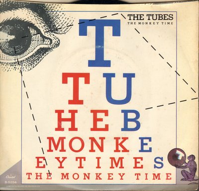 Tubes - The Monkey Time (FANTASTIC Alternative Rock Version of the Motown Classic!)/Sports Fans (with picture sleeve) - NM9/EX8 - 45 rpm Records