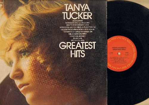 Tucker, Tanya - Greatest Hits: Delta Dawn, What's Your Mama's Name, Would You Lay With Me (In A Field Of Stone), The Man That Turned My Mama On (vinyl STEREO LP record) - NM9/EX8 - LP Records