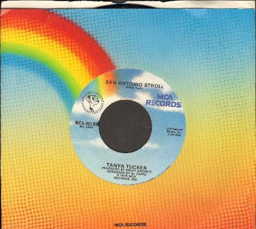 Tucker, Tanya - San Antonio Stroll/Lizzie And The Rainman (with MCA company sleeve) - VG7/ - 45 rpm Records