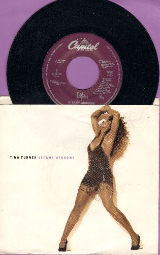 Turner, Tina - Steamy Windows/Not Enough Romance (with picture sleeve) - NM9/EX8 - 45 rpm Records