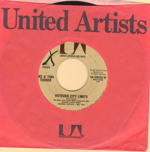Turner, Ike & Tina - Nutbush City Limits/Help Him (1973 first issue) (wol) - VG7/ - 45 rpm Records