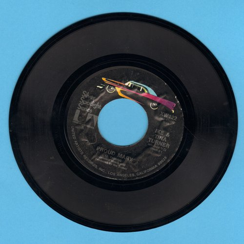 Turner, Ike & Tina - Proud Mary/Tra La La La La (re-issue) - EX8/ - 45 rpm Records