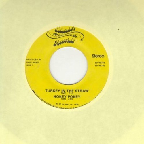 Arntz,Bart - Hokey Pokey/Ain't She Sweet/Turkey In The Straw/Once In Love With Amy (vinyl EP record featuring traditional children's songs) - NM9/ - 45 rpm Records