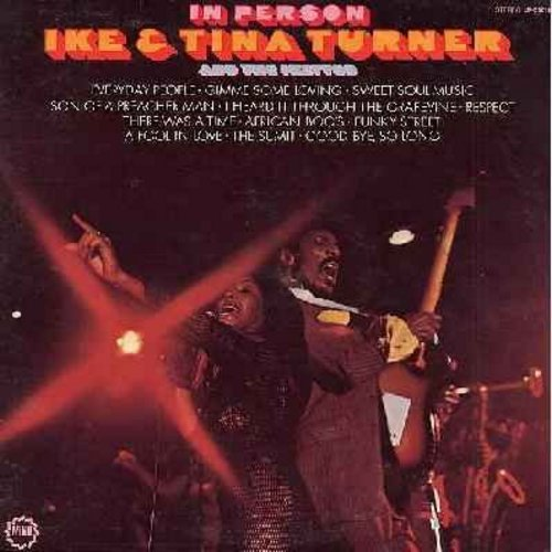 Turner, Ike & Tina - In Person: Gimme Some Loving, Son Of A Preacher Man, I heard It Through The Grapevine, R-E-S-P-E-C-T, A Fool In Love (vinyl STEREO LP record) - NM9/EX8 - LP Records